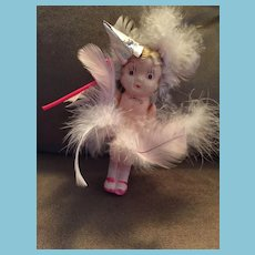 """4"""" Celluloid Googly-Eyed Carnival Doll 'Made in Japan'"""