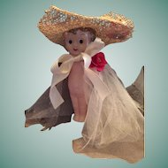 """7"""" Celluloid Googly-Eyed Carnival Doll 'Made in Japan'"""