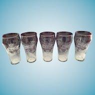 1991-92 NHL and American and National Baseball Coca Cola Collector glasses