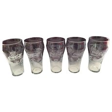 1991-92 NHL and American and National Baseball Coca Cola Collector glasses