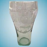 Vintage 14oz 'Cruisers Pit Stop' 'Always Coca-Cola' Glass.