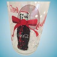Vintage Christmas 'Coca-Cola' Glass