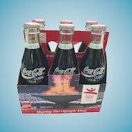 Six Pack of 1992 Barcelona Olympics Classic Coke Bottles