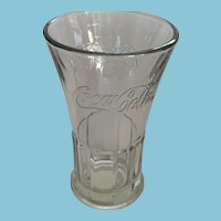 Large Vintage Libbey 'Coca-Cola' Embossed Clear Glass