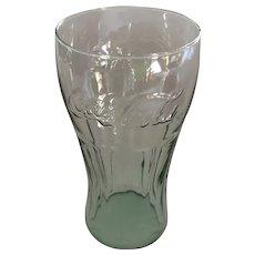 Vintage Jumbo 'Coca-Cola' Embossed Green-tone Libbey Glass Cola