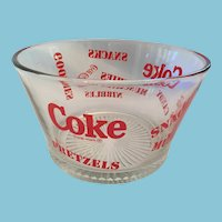 Coca-Cola Trademarked Clear Glass 'Munchies' Bowl