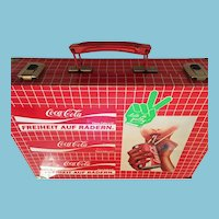 Circa 1980 'Coke is It' Red and White Tin Suitcase