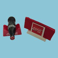 Coca-Cola Napkin and Bottle Holder with Elvis 75 Unopened Coke
