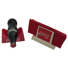 Coca-Cola Napkin and Bottle Holder with Elvis 75 Unopened Coke