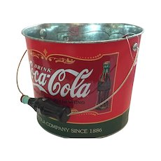 "Coca-Cola 7"" Galvanized Tin Beverage Bucket"