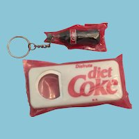 Trademarked Coca-Cola Advertising Bottle Opener and Keychain