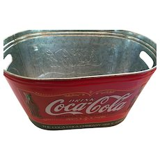 Large Coca-Cola Galvanized Tin Beverage Bucket