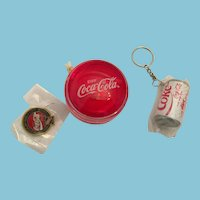 Trademarked Coca-Cola Pin, Keychain, and YoYo