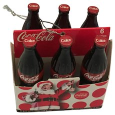 Six Coca-Cola Bottles in Case Christmas tree OrnamenT