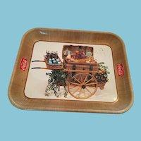Circa 1958 'Drink Coca Cola' Picnic Basket Cart Tray