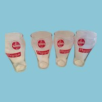 Set of four McDonalds McPizza 'Always Coca-Cola' 8 oz  Glasses