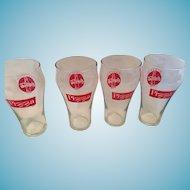 Set of four McDonalds McPizza 'Always Coca-Cola' 8 oz  Glasses