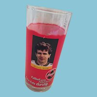 Footballer Andreas Möller Commemorative 'Always Coca-Cola' Pillar Glass