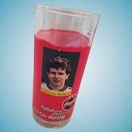 Footballer Andreas Möller Commemorative 'Always Coca-Cola' Pillar Glass