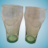 Pair of 1993 'Always Coca-Cola' Dairy Queen 8 oz. Classic Glasses