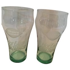 Pair of 1993 'Always Coca-Cola' Dairy Queen 8 oz. Classic Glasses