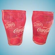 Pair of 'Enjoy Coca-Cola' 8 oz. Clear Classic Glasses