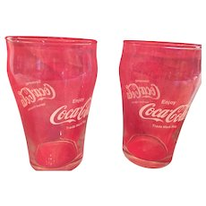 Pair of 'Enjoy Coca-Cola' 8 oz. Clear Classic Glasses