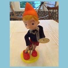 Circa 1940s Walt Disney Cymbal-Playing Wind-Up Pinocchio Tin Toy