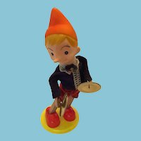 Circa 1940s Walt Disney Cymbal-Playing Wind-Up Pinocchio Tin Toy