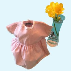 Sweet Dear Dolly Pink Cotton Dress with Lace Trim