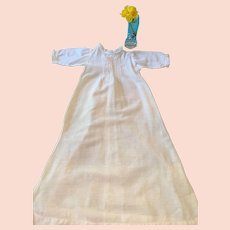 Circa 1900s -10s Full-length White Hanky Cotton Baby Nightgown