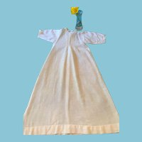 Circa 1900s -10s Full-length White Hanky Cotton Nightgown