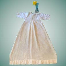 Circa 1900s -10s Full-length White Hanky Cotton Nightgown
