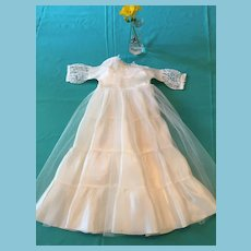 1950s -60s Fashion Doll Full-Length Bride Dress.