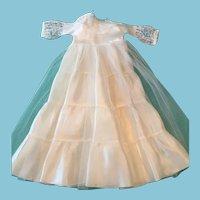 1950s -60s Fashion Doll Full-Length Bride Dress.