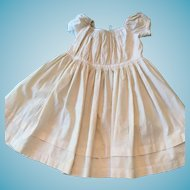 circa 1920s -30s Seamstress-Made Dotted-Swiss White Cotton Toddler Dress
