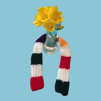 Hudson Bay Company-colored Hand-Knit Dolly Scarf