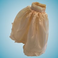 Seamstress-Made 1950s Ecru Colored Full-length Dolly Party Skirt