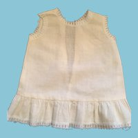 Seamstress-Made 1950s Lace Trimmed White Cotton Dolly Slip