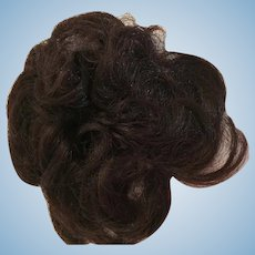 Curled Chestnut Colored Hair Chignon for your Doll Making