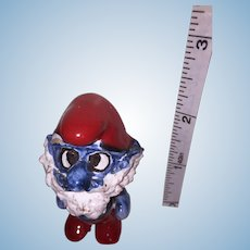 Miniature Smurf Hand-Made in Sciacca, Italy