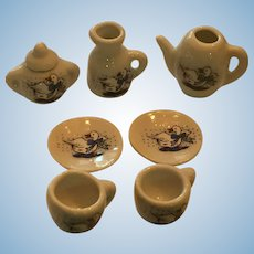Eight Piece Miniature 'Coffee for Two' Service