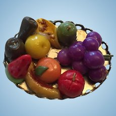 Tray of Colorful Miniature Fruits and Vegetables