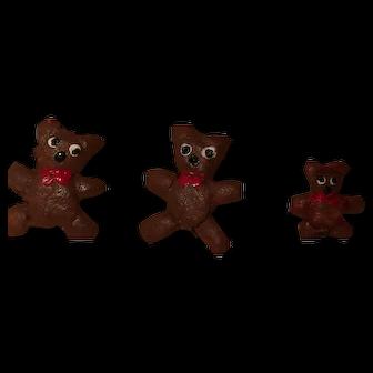 Teeny Tiny Set of Handmade 3 Bears