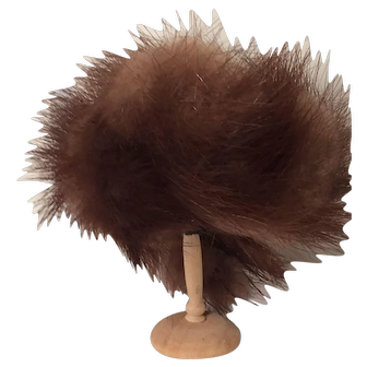 "Davy Crockett-style Miniature Fur Hat on 2"" Wooden Hat Stand"