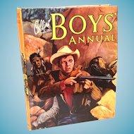 'Collins Boys' Annual' Vintage Hardcover Boys' Anthology
