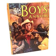 'Collins Boys' Annual' Vintage Hardcover Boys' Anthology