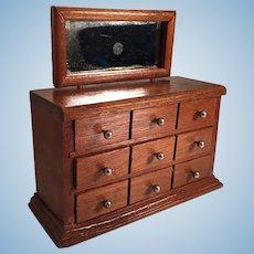 Antique German Dollhouse Schneegas Dresser With Swivel