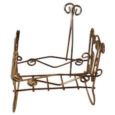 Sweet Brass Dollhouse Rocking Cradle