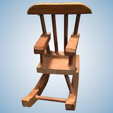 Sweet Vintage  Doll House Wooden Rocking Chair